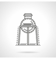 Flat line rack with flask icon vector image vector image