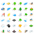 forest icons set isometric style vector image vector image
