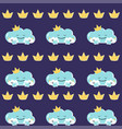 funny mother cloud with babies seamless vector image vector image