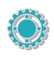 gear wheel team work isolated vector image