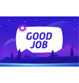 good job night environment with sky clouds vector image vector image