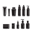 hair cosmetics packaging set monochrome vector image