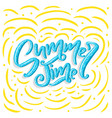 hand drawn lettering - summer time vector image