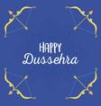 happy dussehra festival india gold arrows vector image vector image