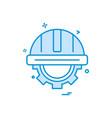 helmet gear icon design vector image