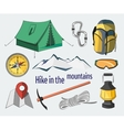 Hike in the mountains vector image