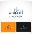 home realty building city line logo vector image vector image
