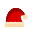 isolated christmas santa hat icon vector image vector image
