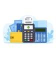 items for business and finances counting vector image