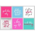 Lettering postcard quotes set vector image