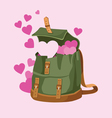 love backpack 001 vector image