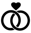 love diamond ring symbol vector image vector image