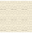 Mason jars linear icon set seamless texture vector image vector image