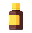 medicine bottle icon in flat style vector image vector image