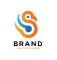 monogram logo design letter s vector image