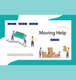 moving home and office template landing vector image