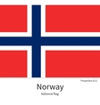 National flag of Norway with correct proportions vector image