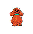 obedient cute dog waiting for command cartoon vector image