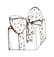 Present box with decorative bow vector image