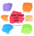 set hand drawn flat grunge stains markers on vector image vector image