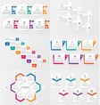 set infographics element template with options vector image