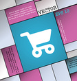 shopping basket icon sign Modern flat style for vector image