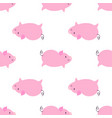 simple pig seamless pattern vector image vector image