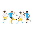 soccer game players vector image vector image