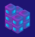 speaker box icon isometric style vector image