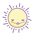 sun smiling cartoon vector image vector image