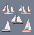 super set of water carriage and maritime transport vector image