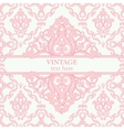 Template card with abstract baroque royal vector image vector image