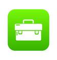tool box icon green vector image