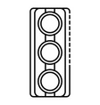 traffic lights icon outline style vector image vector image