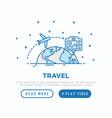 travel blog concept camera on tripod shoot video vector image