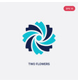 two color two flowers icon from ecology concept vector image