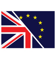 United Kingdom exit from the European Union vector image vector image