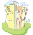urban house vector image vector image