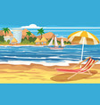 vacation travel relax tropical beach island vector image vector image