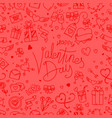 valentines day greeting card with inscription vector image vector image
