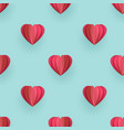 valentines origami heart seamless pattern vector image vector image