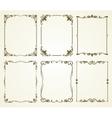 vintage calligraphic frames set vector image vector image