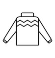 winter pullover icon outline style vector image