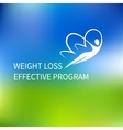 logo special weight loss effective program vector image