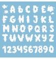 Cloud alphabet set vector image