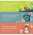 Set of modern flat design business infographics vector image