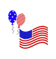 a flag ball july fourth icon vector image