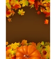 Abstract autumn background with leaves EPS 8 vector image vector image