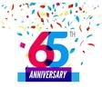 Anniversary design 65th icon anniversary vector image vector image