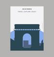 arc de triomphe place charles de gaulle vintage vector image